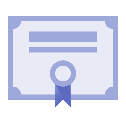 Picture of a certification icon