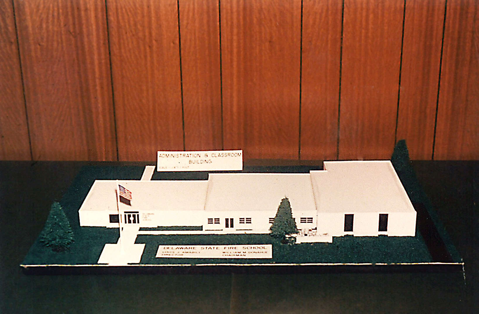 Photo of a model of the Delaware State Fire School