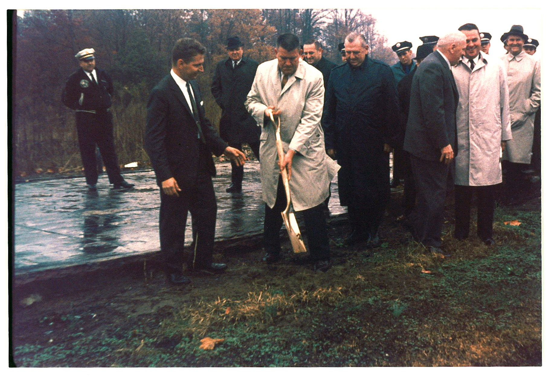Photo of a groundbreaking for the Delaware State Fire School