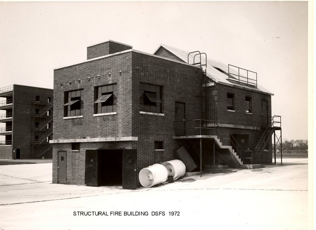 Photo of the Structural Fire Building, DSFS, 1972