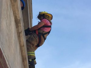 Photo of Camper participating in rescue training